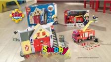 Sam le Pompier caserne et camion